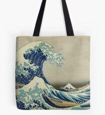 Bolsa de tela La gran ola japonesa clásica de Kanagawa por Hokusai