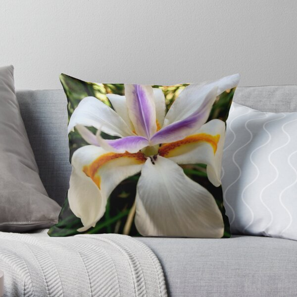 Fortnight Lily (Dietes) from A Gardener's Notebook Throw Pillow