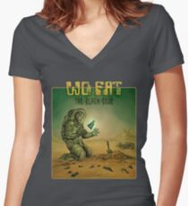 Wo Fat - The Black Code Women's Fitted V-Neck T-Shirt