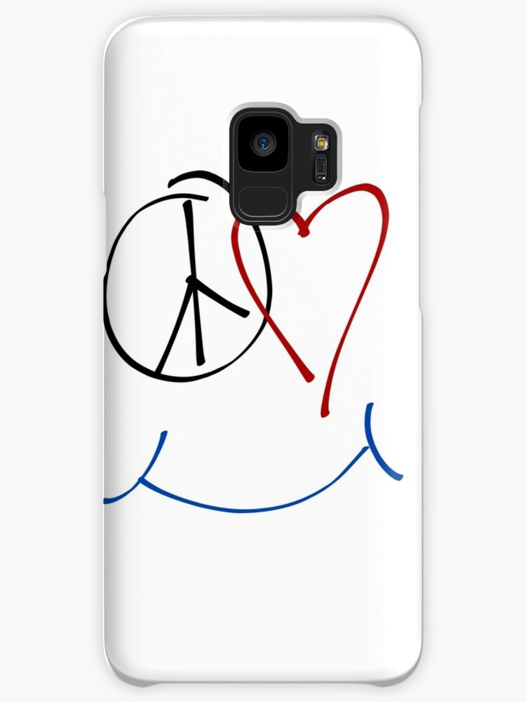 Peace Love And Happiness Symbol Cases Skins For Samsung Galaxy