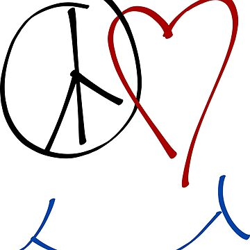 Peace, Love and Happiness Symbol by raizepeace