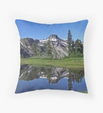 Reflection Lake - Heather Meadows - Mt Baker Throw Pillow