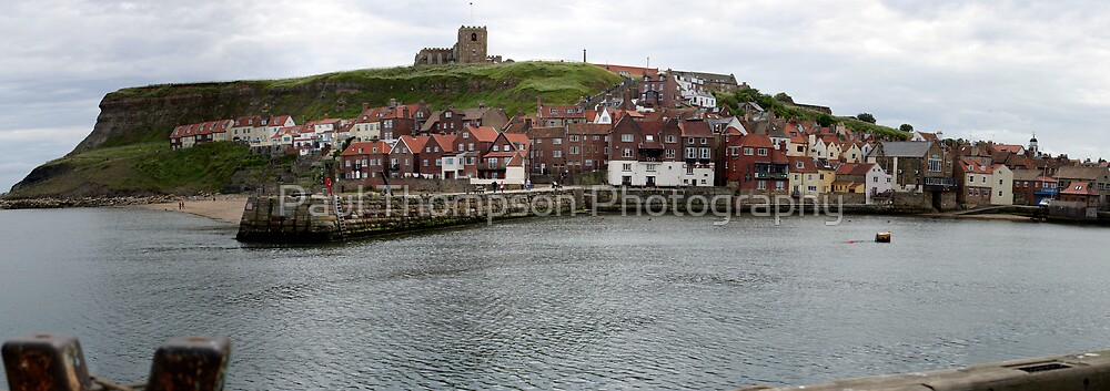 Whitby Harbour Panoramic by Paul Thompson Photography