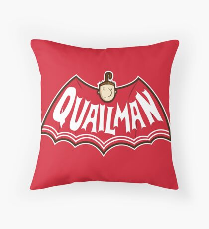 Quailman Throw Pillow