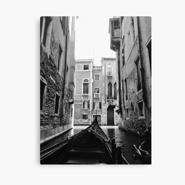 Venice In A Gondola Canvas Print