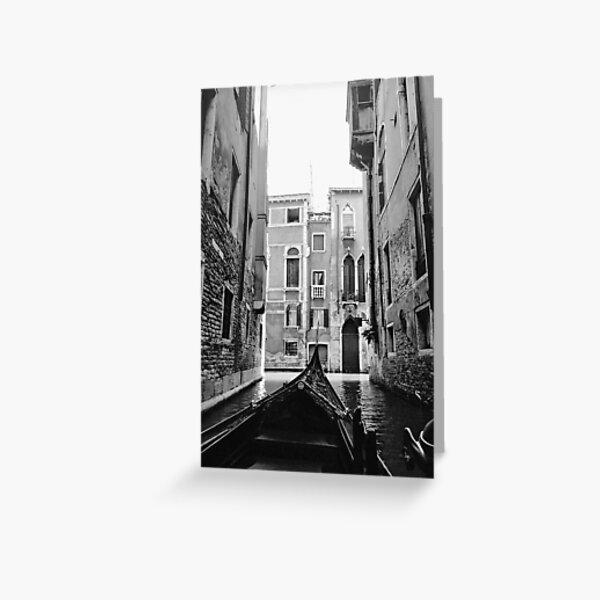 Venice In A Gondola Greeting Card