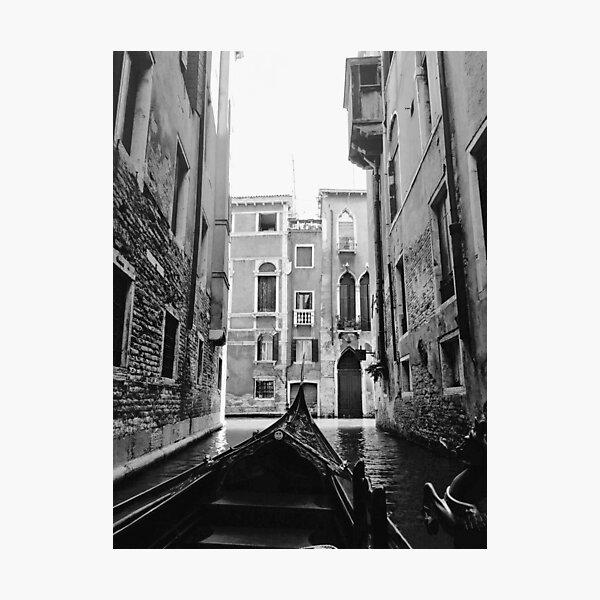 Venice In A Gondola Photographic Print