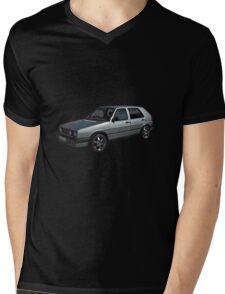 Volkswagen Golf GTI in Silver Mens V-Neck T-Shirt
