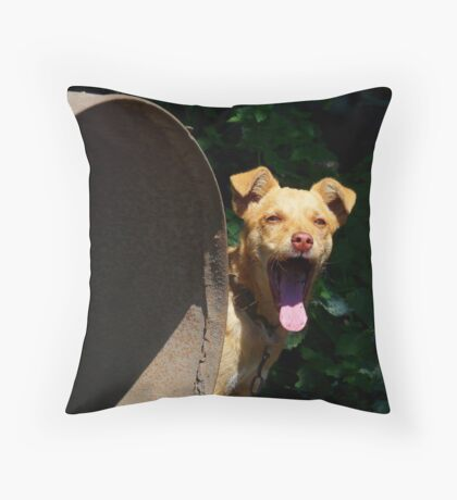 Bored dog :) Throw Pillow