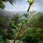 Camouflaged Chameleon by Destroyed-Pixel