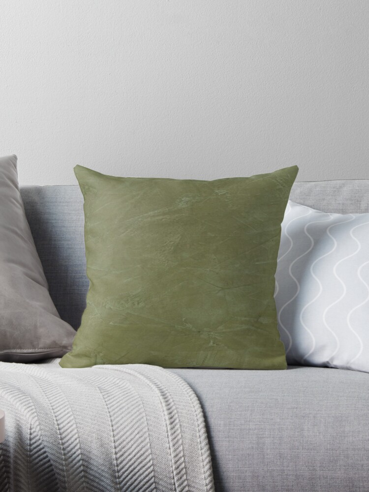 olive green pillows. Tuscan Olive Green Venetian Plaster By CorbinHenry Pillows