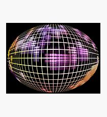 Abstract globe silhouette.Global communication concept. Photographic Print