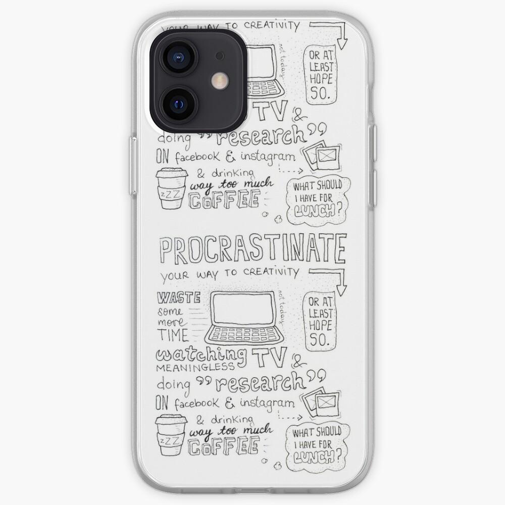 Procrastinate your way to creativity iPhone Case & Cover