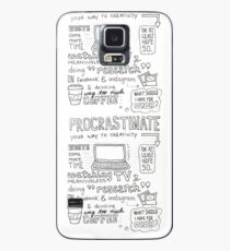 Procrastinate your way to creativity Case/Skin for Samsung Galaxy