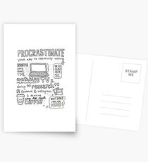 Procrastinate your way to creativity Postcards