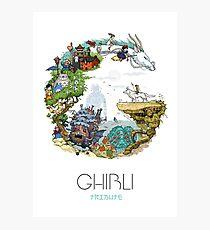Ghibli Tribute Photographic Print
