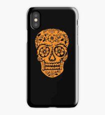 Sugar Skull SF Halloween on blk iPhone Case