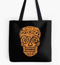 Sugar Skull SF Halloween on blk Tote Bag