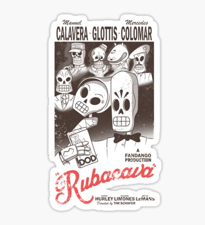 Rubacava (White) Sticker