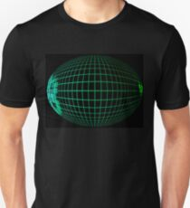 Green abstract globe silhouette. T-Shirt