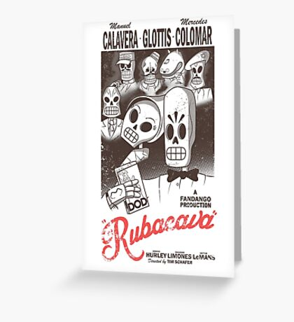 Rubacava (White) Greeting Card