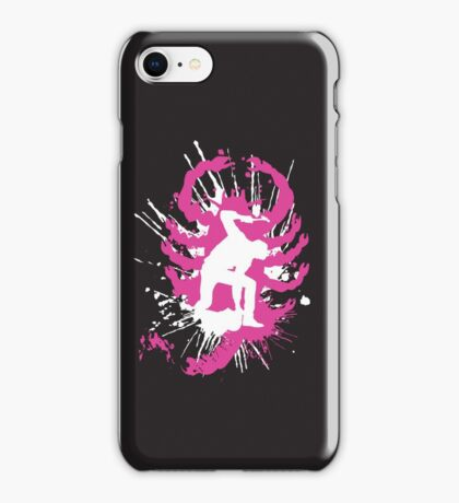 My hands are dirty Pink and White iPhone Case/Skin