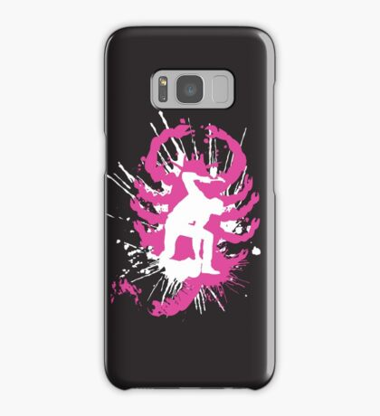 My hands are dirty Pink and White Samsung Galaxy Case/Skin