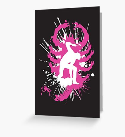 My hands are dirty Pink and White Greeting Card