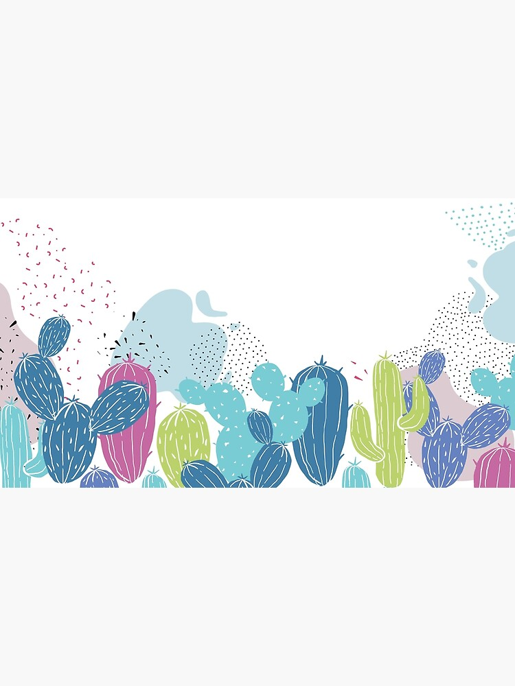 Colorful cactuses pattern by mirunasfia