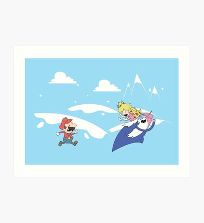 Mario's Adventure Art Print