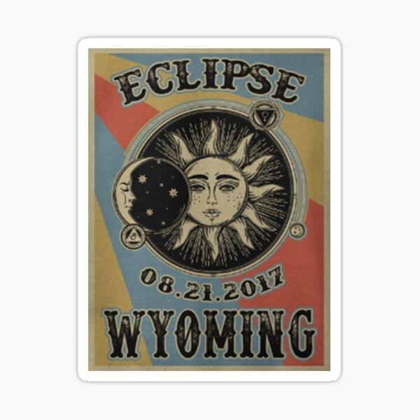 VINTAGE WYOMING SOLAR ECLIPSE 2017 SHIRT Sticker