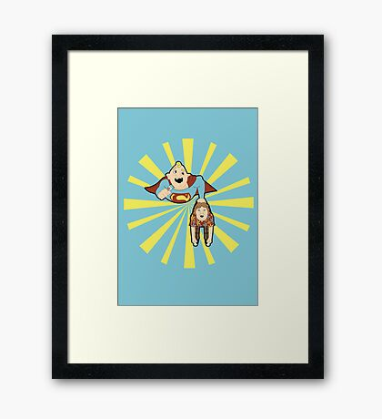 Super Sloth Framed Print