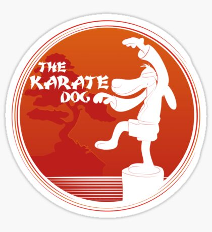 The Karate Dog  Sticker