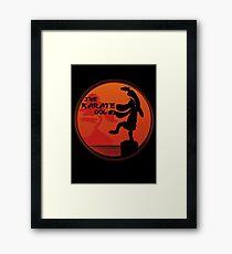 The Karate Dog  Framed Print