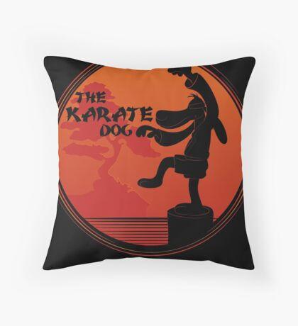 The Karate Dog  Throw Pillow