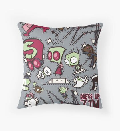 Dress up Zim Throw Pillow