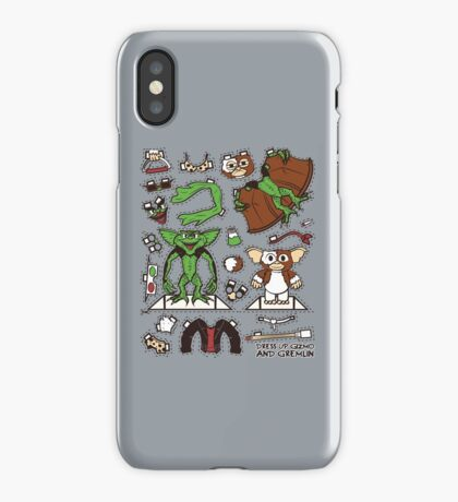 Dress up Gizmo and Gremlin iPhone Case