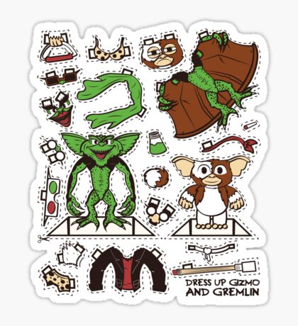 Dress up Gizmo and Gremlin Sticker