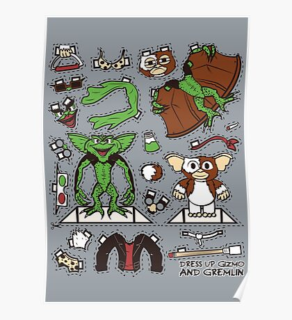 Dress up Gizmo and Gremlin Poster