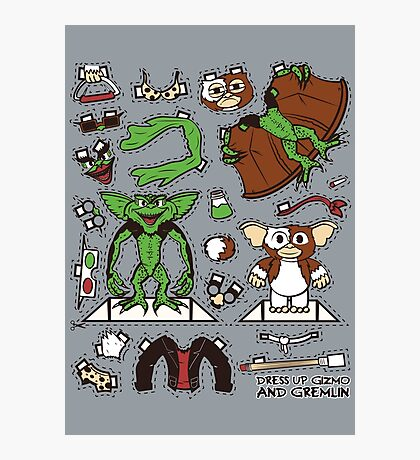Dress up Gizmo and Gremlin Photographic Print