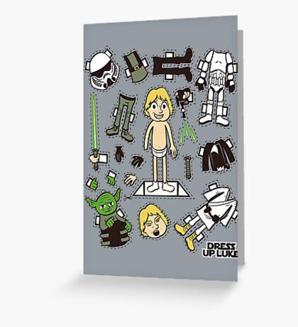 Dress up Luke Greeting Card