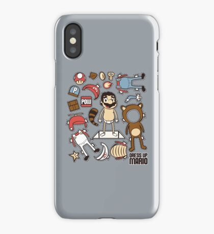 Dress up Mario iPhone Case