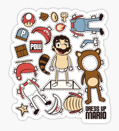 Dress up Mario Sticker