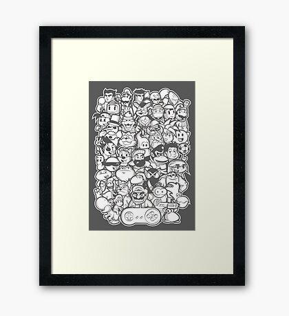 Super 16 bit Framed Print