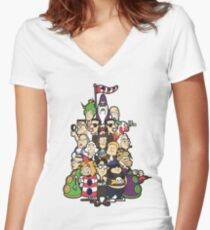 Day at the Mansion in colour! Women's Fitted V-Neck T-Shirt