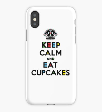 Keep Calm and Eat Cupcakes - mondrian  iPhone Case