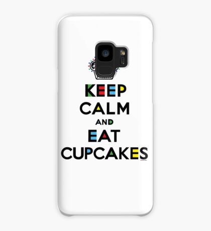 Keep Calm and Eat Cupcakes - mondrian  Case/Skin for Samsung Galaxy