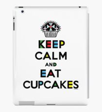Keep Calm and Eat Cupcakes - mondrian  iPad Case/Skin