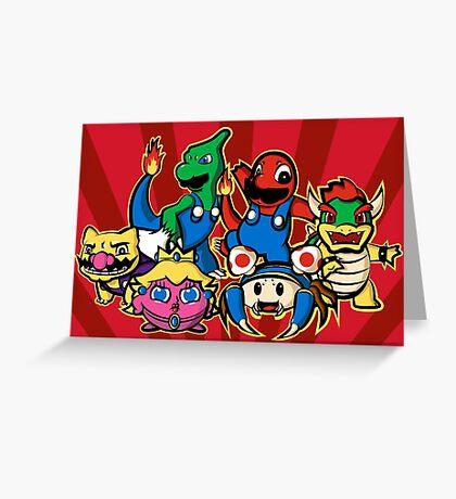 Mariomon Greeting Card
