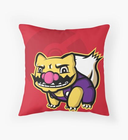 Wariosaur Throw Pillow